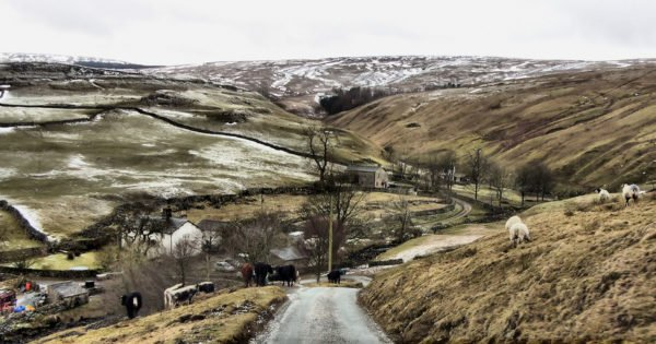 Cycling climb country in Yorkshire