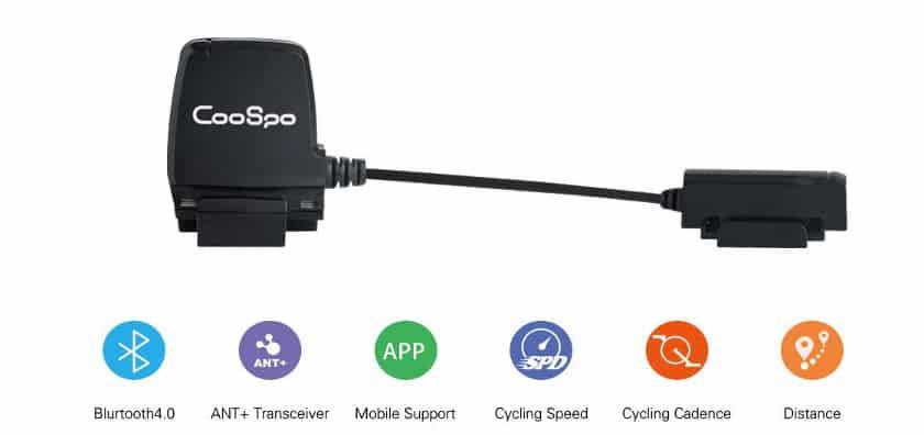 CooSpo Speed Cadence Sensor Bluetooth 4.0 ANT Wireless Waterproof