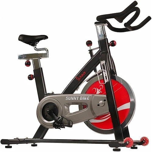 Sunny Health & Fitness Silent Belt Drive Indoor Cycle Bike