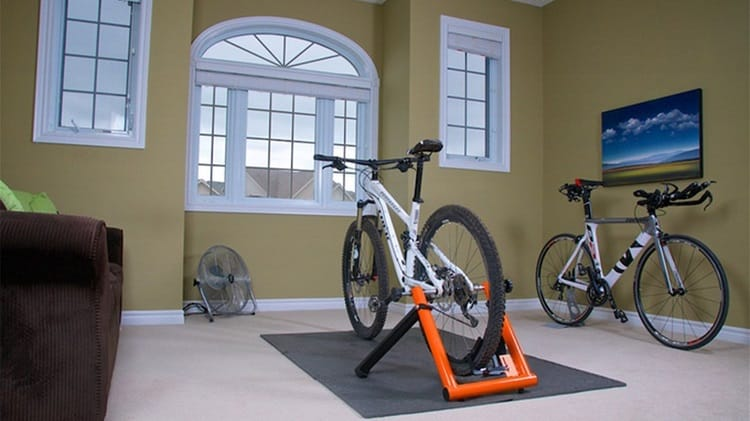 Mountain Bike On Trainer