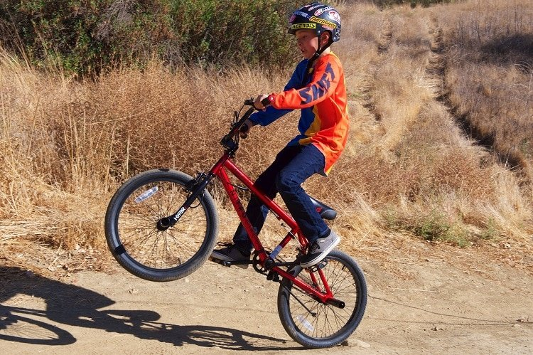 Kid Riding BMX