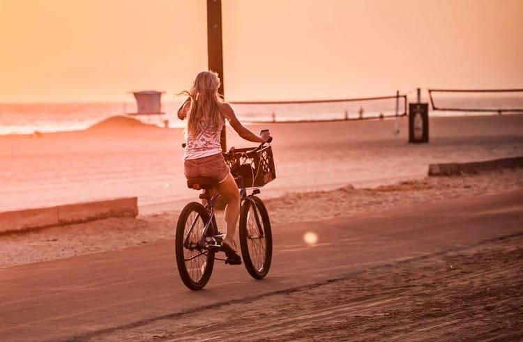 Cruiser Bike Ride On Beach