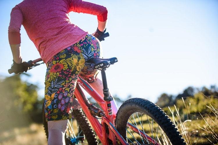 Woman Wearing Bike Shorts
