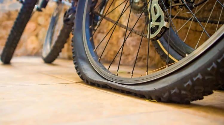 flattened tire