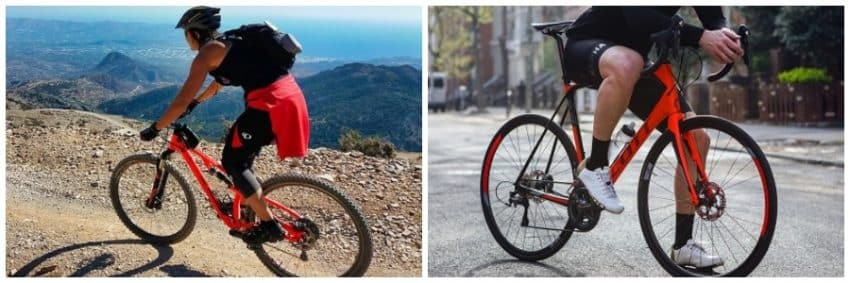 mountain bike vs road bike comparison