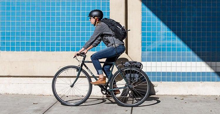 Woman Driving Surly Bike