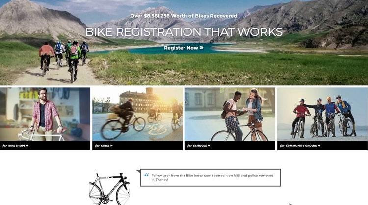Bike Index Homepage